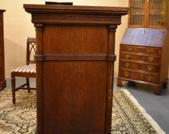 Large 4' Antique Mahogany Pedestal Stand or Table Top Vintage Furniture