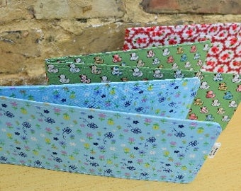 Cute and Floral Print Chequebook Wallets
