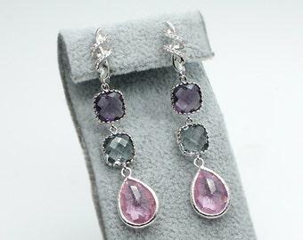 """Handmade colorful earrings """"Tender dreams"""""""