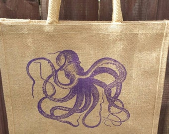 Octopus Jute market bag