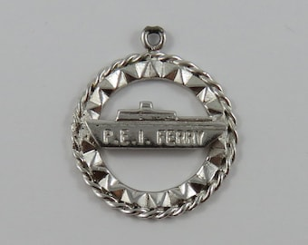 P.E.I. Ferry Sterling Silver Vintage Charm For Bracelet