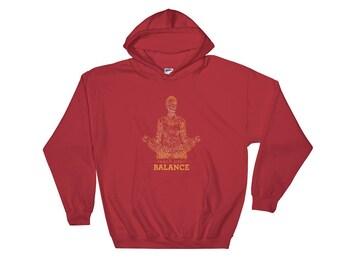 meditation hoodie, yoga hoodie, Buddhism hoodie, spirituality hoodie, Hindu hoodie
