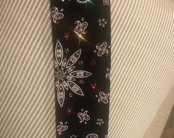 Back Bandana with clear and red Swarovski crystals