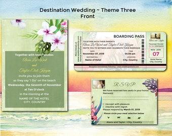 Tropical Birds/Boarding Pass/Las Vegas/Costa Rica/Jamaica/Mexico/Destination Wedding/Beach Wedding/Tropical/Island/Beaches/Hawaii/Three