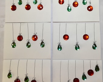 Christmas Ornament card set.