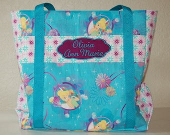 Diaper Bag Made From Tinkerbell fabric