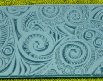 Swirly Hearts Texture Rubber Stamp TTL-801