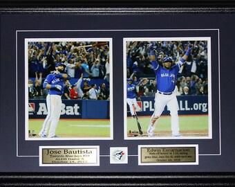 Jose Bautista & Edwin Encarnacion Bat Flip and Bat Drop Home Run 2 photo frame