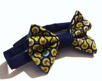 bow tie idea customizable yellow blue, baby bow tie
