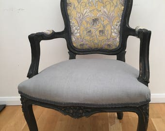 French vintage restored armchair