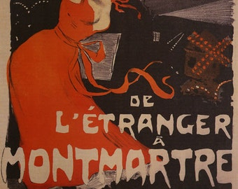 Theater Etranger Montmartre  Show in Paris France French Vintage Poster Repro FREE SHIPPING