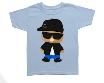 Rad Rapper - Big Sunglasses - Kids T-Shirt [LIGHT BLUE]