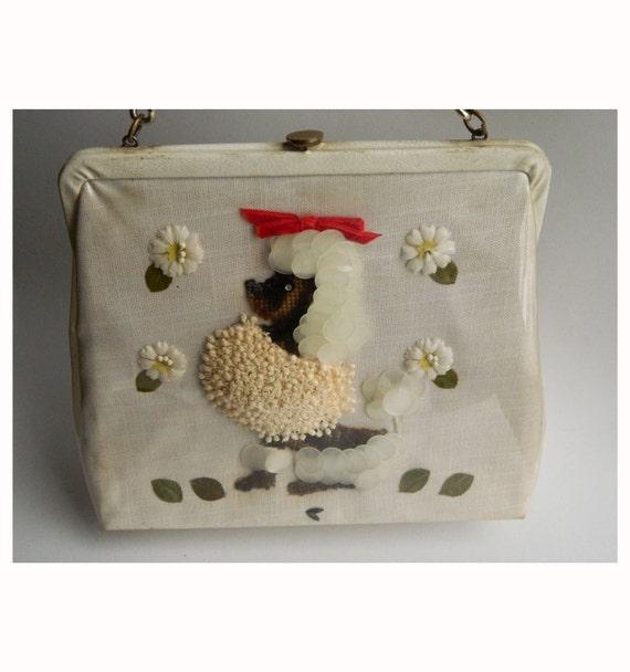 Vintage 1950s Jolles Original Poodle Handbag