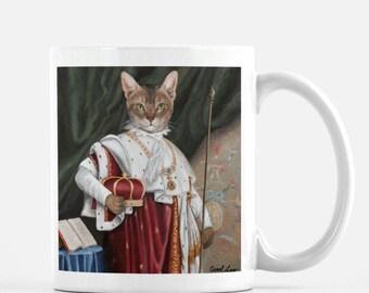 """Cat Lady Mug, Cat Coffee Mug, Kitty Lover Mug, Kitty Cat Mug, Cat Mug, """"Alex"""""""