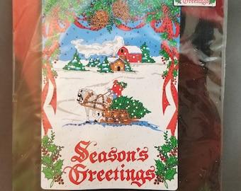 Plaid, Bucilla, 84687, Seasons Greetings Jeweled Wall Hanging, Holiday Tradition, Bonnie Smith Design