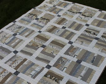Large Lap Quilt in Lovely Neutrals