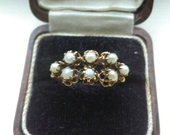 Antique Victorian Gold & Seed Pearl Ring, Antique Loft