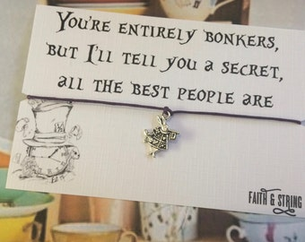 Wonderland Gift Friendship Bracelet Keepsake