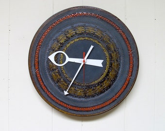 Vintage 1960s RARE Ceramic Meridian Clock / Aldo Londi Bitossi George Nelson Design