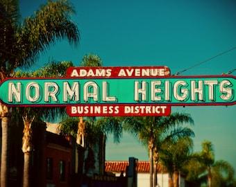 Normal Heights Neon Sign Photo | San Diego Neighborhood | Adams Avenue Sign | Fine Art