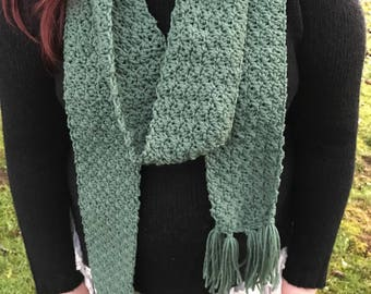 Olive Green Scarf, Womens