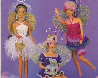 Vintage Annie's Attic Fashion Doll Crochet outfits for Tooth Fairies ,1995,Juanita Turner designer