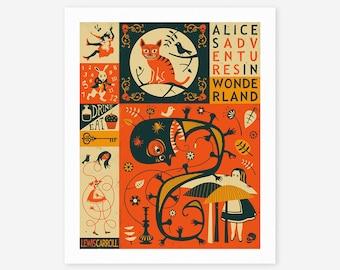 ALICE IN WONDERLAND (Giclée Fine Art Print/Photo Print/Poster Print)