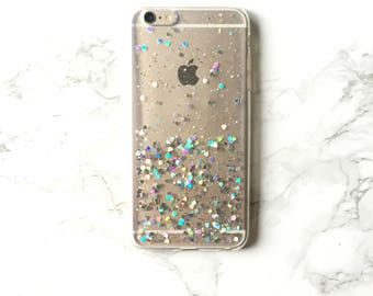 Holographic Sparkle Glitter VERVE, iPhone X 8 7 6 6s Plus Case Glossy Holo Reflective Iridescent Rainbow Hologram Best Friend Gift Case