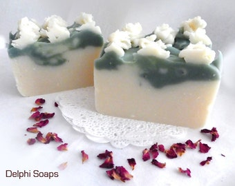 Lily of the Valley soap- spring floral bar soap- shea butter soap- Natural soap-cold process soap-olive oil soap-housewarming gift-wife gift