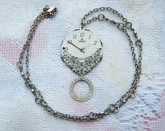 Watch Parts Necklace: Set of 1