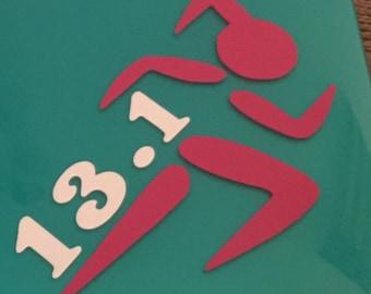 Marathon Runner Die Cut Vinyl Decal