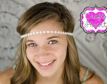 Daisy Boho Headband - Bohemian Headband - Boho Headband - Forehead Headband - Halo Headband - Adult Boho Headband - Hippie Headband - Flower