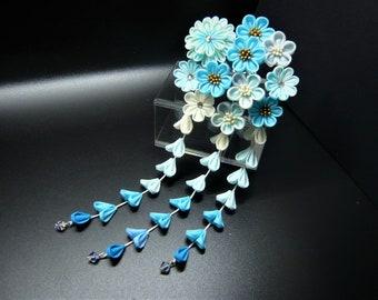 TSUMAMI KANZASHI hair accessory hair pin (blue)