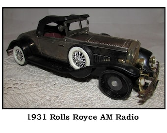 Vintage AM Radio in the Shape of a 1931 Rolls Royce Car