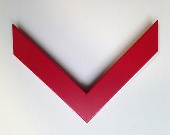 Custom Frame, Red Wood, for Any Size Artwork