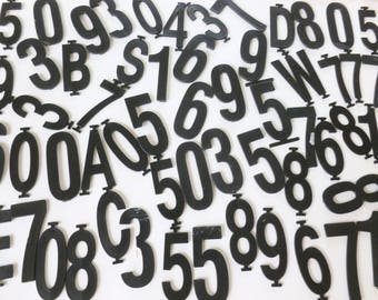 Black Plastic Letters and Numbers Assorted Lot Changeable Track Sign