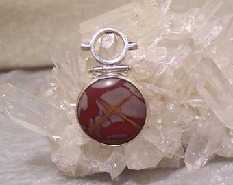 NOREENA JASPER 25mm Round - Hinged Bead Frame Centerpiece in Stone and  Sterling Silver