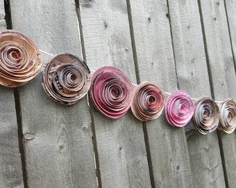 Flower garland- Wedding garland- Party garland- Bridal Shower garland- Baby Shower garland