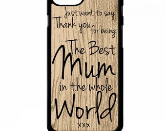 The worlds best mum mom mothers day quote phrase cover for iphone 4 4s 5 5s 5c 6 6s 7 plus SE phone case
