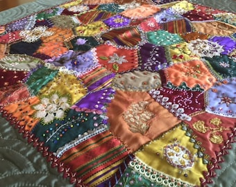 Crazy Patchwork with Turkish Touch//Handmade Patchwork,patchwork tablecloth,patchwork table runner