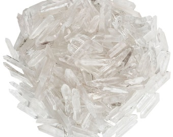 Digging Dolls: 1/4 lb Natural Quartz Jewelry Points / Shards- Extra Small Quartz Crystals for Wire Wrapping, Crafts and Art