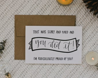 "Empathy 4""x6"" Greeting Card - You Did It!"