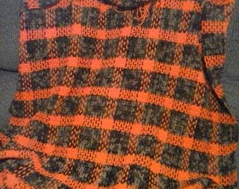 Plaid stadium blanket or throw blanket