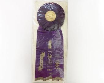 Vintage 1967 Westminster Kennel Club Dog Show Ribbon award