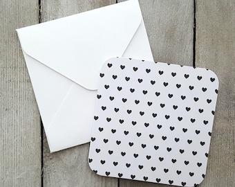 Heart Mini Cards, Blank Mini Cards, Love Notes