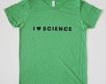 I Love Science -- Kids T-Shirt