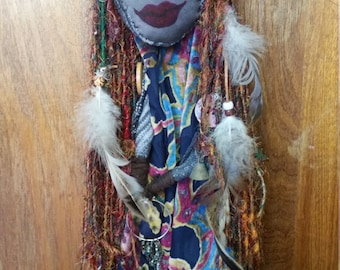 Gana Goddess of Gypsies, Travellers and Wytches (OOAK art Spirit Doll).