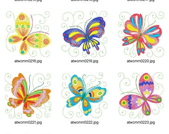 Frizzy-Butterflies. ( 10 Machine Embroidery Designs from ATW )