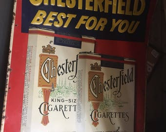 Chesterfield Best For You Vintage Metal Sign Advertising