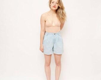 90s High Waisted Shorts - Denim, Liz Wear, Vintage, 90s, Summer Shorts